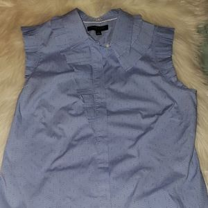 Banana Republic Blue Riley Dot Blouse